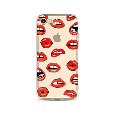 voordelige iPhone 5c hoesjes-hoesje Voor Apple iPhone X / iPhone 8 Plus / iPhone 8 Transparant / Patroon Achterkant Sexy dame Zacht TPU
