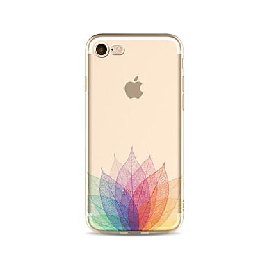 voordelige iPhone 5c hoesjes-hoesje Voor Apple iPhone X / iPhone 8 Plus / iPhone 8 Transparant / Patroon Achterkant Bloem Zacht TPU