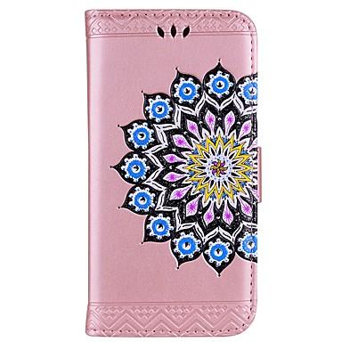 voordelige Galaxy A-serie hoesjes / covers-hoesje Voor Samsung Galaxy A3 (2017) / A5 (2017) / A7 (2017) Portemonnee / Kaarthouder / met standaard Volledig hoesje Mandala / Glitterglans Hard PU-nahka