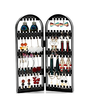 cheap Jewelry & Makeup Storage-Earring Necklace Bracelet Jewelry Packaging Hanger Organizer Foldable Storage Holder Display Stand Rack Gift