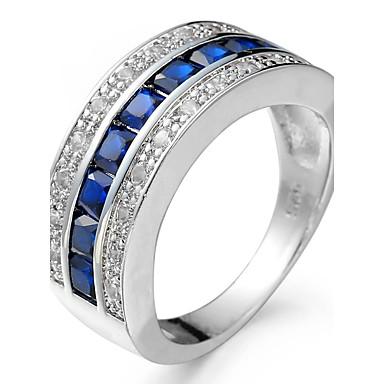 1299 Męskie Damskie Pierścionek Zaręczynowy Pierścionki Na środek Palca Cyrkonia Cyrkon Miedź Geometric Shape Biżuteria ślub Impreza