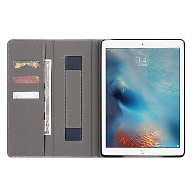 رخيصةأون أغطية أيباد-غطاء من أجل Apple iPad Pro 12.9'' / Apple محفظة / حامل البطاقات / مع حامل غطاء كامل للجسم لون سادة قاسي جلد PU