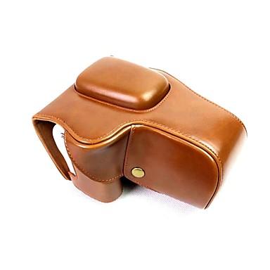 olcso Tokok, táskák & pántok-dengpin pu bőr fényképezőgép tok táska fedél kanon eos 200d 18-55mm objektív (válogatott színek)