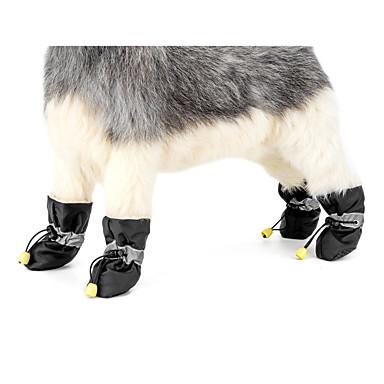 povoljno Odjeća za psa i dodaci-Pas Anti-Slip Sole Čizme za snijeg Zima Odjeća za psa Crn Crvena Plava Kostim Tekstil Jednobojni Ležerno / za svaki dan Ugrijati Novogodišnji XS S M L XL