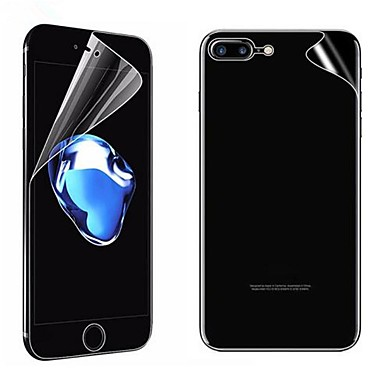 voordelige iPhone screenprotectors -AppleScreen ProtectoriPhone 8 Plus High-Definition (HD) Voorkant- & achterkantbescherming 2 pcts PET