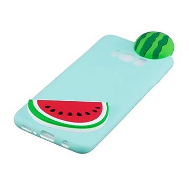 voordelige Galaxy S-serie hoesjes / covers-hoesje Voor Samsung Galaxy S8 Plus / S8 / S7 edge Patroon / DHZ Achterkant 3D Cartoon / Fruit Zacht TPU