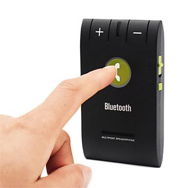 Недорогие Bluetooth гарнитуры для авто-универсальный hands free вызов многоточечной громкой связи беспроводной Bluetooth автомобильный комплект с микрофоном bluetooth v4.0edr