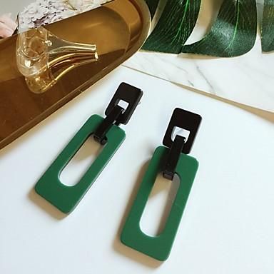 رخيصةأون أقراط-نسائي أقراط الزر أقراط قطرة سيدات أسلوب بسيط موضة الأقراط مجوهرات أحمر / أخضر من أجل فضفاض مناسب للخارج