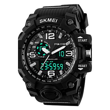 958de8698250 Hombre Mujer Reloj Deportivo Reloj Militar Reloj elegante Digital Silicona  Negro 30 m Resistente al Agua Despertador Calendario Analógico-Digital  Encanto ...