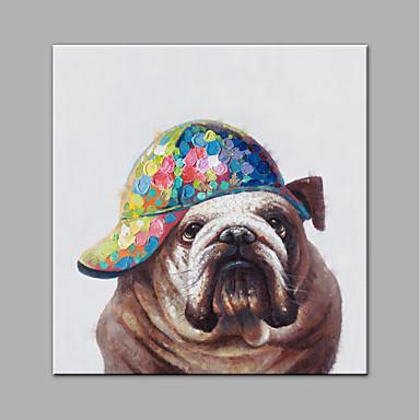 povoljno Wall Art-Hang oslikana uljanim bojama Ručno oslikana - Pop art Moderna Bez unutrašnje Frame / Valjani platno