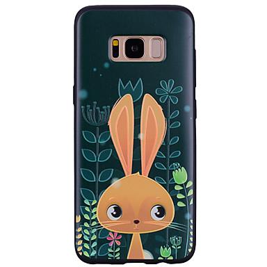 Недорогие Чехлы и кейсы для Galaxy S6 Edge-Кейс для Назначение SSamsung Galaxy S8 Plus / S8 / S7 edge С узором Кейс на заднюю панель Животное / Мультипликация Мягкий Силикон