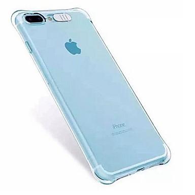 voordelige iPhone X hoesjes-hoesje Voor Apple iPhone X / iPhone 8 Plus / iPhone 8 Schokbestendig / LED-knipperlicht Achterkant Transparant Zacht TPU