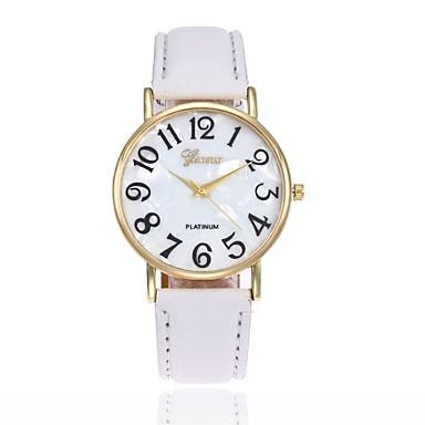 رجالي نسائي ساعة المعصم كوارتز جلد أسود / الأبيض / أزرق ساعة كاجوال مماثل سحر موضة - زهري كاكي فاتح أخضر
