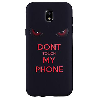 رخيصةأون حافظات / جرابات هواتف جالكسي J-غطاء من أجل Samsung Galaxy J7 (2017) / J5 (2017) / J5 (2016) نموذج غطاء خلفي جملة / كلمة ناعم سيليكون