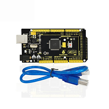 olcso Alaplapok-1db keyestudio mega 2560 r3 1db usb kábel arduino mega 2560 r3 / avr