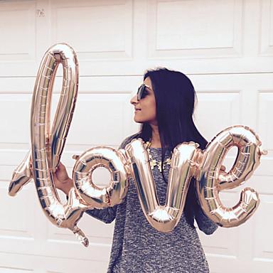 1PC الحروف المركبة الحب بالونات احباط الذهب بالونات الحب بالونات الحب العازبة حزب ستا لوازم الزفاف الديكور عيد ميلاد