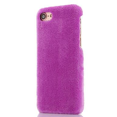 Недорогие Кейсы для iPhone 7 Plus-Кейс для Назначение Apple iPhone X / iPhone 7 Plus / iPhone 7 Защита от удара Чехол Однотонный Мягкий текстильный