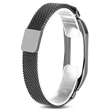 رخيصةأون أساور ساعات هواتف Xiaomi-حزام إلى Mi Band 2 Xiaomi عصابة الرياضة ستانلس ستيل شريط المعصم
