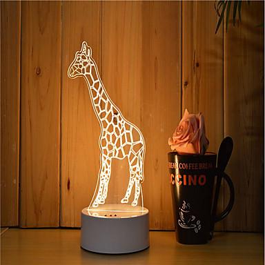 olcso USB Lights-1set 3D éjszakai fény Tompítható / LED fény / Dekoratív Művészi / LED / Modern Kortárs