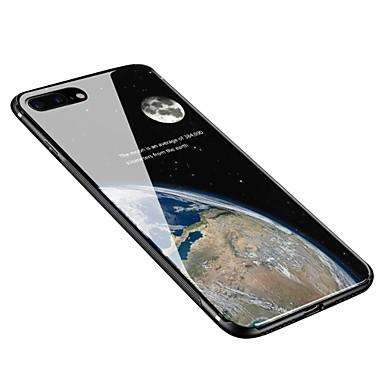voordelige iPhone-hoesjes-hoesje Voor Apple iPhone X / iPhone 8 Plus / iPhone 8 Patroon Achterkant Hemel Zacht Gehard glas
