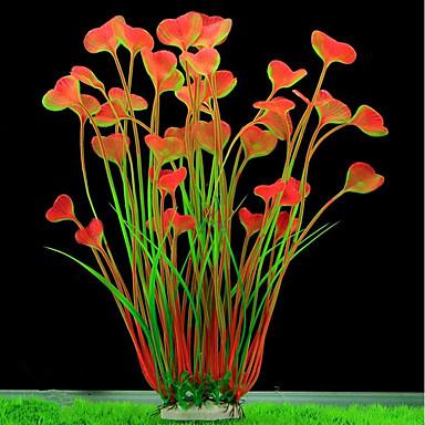 olcso Kiegészítők akváriumokhoz és halaknak-Akvárium Akváriumdíszek Mesterséges növények Érdes tócsagaz Anacharis Vízi növény Mesterséges növények Zöld Díszítmény Műanyagok Porcelán bevonat 2 40 cm