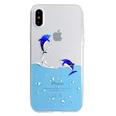Недорогие Кейсы для iPhone 7 Plus-Кейс для Назначение Apple iPhone X / iPhone 8 Pluss / iPhone 8 С узором Кейс на заднюю панель Композиция с логотипом Apple / Мультипликация Мягкий ТПУ