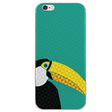 voordelige iPhone 5 hoesjes-hoesje Voor iPhone 7 / iPhone 7 Plus / iPhone 6s Plus iPhone 8 Plus / iPhone 8 / iPhone SE / 5s Patroon Achterkant Flamingo / Cartoon Zacht TPU