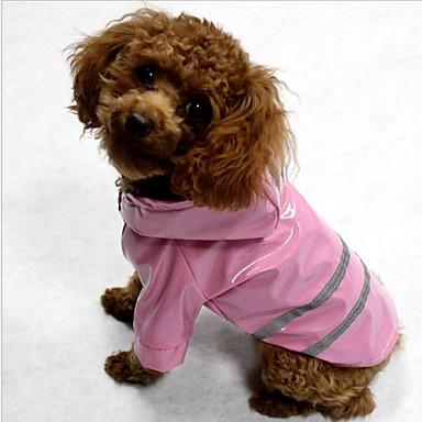 f307f88b349 Γάτα Σκύλος Παλτά Αδιάβροχο Πάλτο Αντανακλαστική ταινία Ρούχα για σκύλους  Ριγέ Κίτρινο Κόκκινο Μπλε Τερυλίνη Στολές Για Άνοιξη & Χειμώνας Χειμώνας  Αδιάβροχη ...