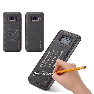 رخيصةأون حافظات / جرابات هواتف جالكسي S-غطاء من أجل Samsung Galaxy S8 Plus / S8 / S7 edge اصنع بنفسك غطاء خلفي لون سادة قاسي خشبي