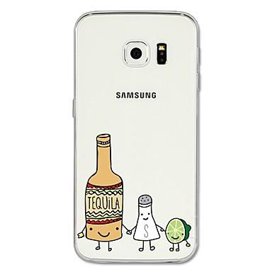 رخيصةأون حافظات / جرابات هواتف جالكسي S-غطاء من أجل Samsung Galaxy S8 Plus / S8 / S7 edge نموذج غطاء خلفي كارتون / فاكهة ناعم TPU