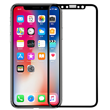 voordelige iPhone screenprotectors -AppleScreen ProtectoriPhone X High-Definition (HD) Volledige behuizing screenprotector 1 stuks Gehard Glas