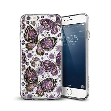 voordelige iPhone-hoesjes-hoesje Voor Apple iPhone X / iPhone 8 Plus / iPhone 8 Patroon Achterkant Vlinder Zacht TPU