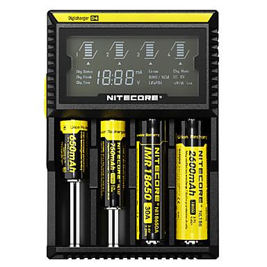 olcso LED kulcstartók-Nitecore D4 Akkumulátor töltő Sugárzók Védett áramkör Rövidzárlat-védelem Túltöltésvédelem Kempingezés / Túrázás / Barlangászat