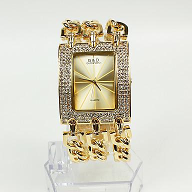 Pentru femei femei Ceasuri de lux Ceas La Modă Ceas Brățară Japoneză Quartz Auriu 30 m Ceas Casual Analog Sclipici - Auriu Doi ani Durată de Viaţă Baterie / Sony SR626SW