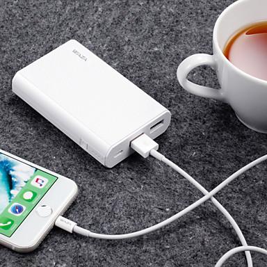 olcso Apple tartozékok-waza 10000 mah a tápegység külső akkumulátorához 5 v 2.4 a akkumulátor töltő helyreállításához védelem / túltöltés védelem / túltöltés elleni védelem