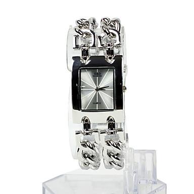 Pentru femei Ceas La Modă Ceas Brățară Piața de ceas Japoneză Quartz Oțel inoxidabil Argint 30 m Ceas Casual Analog femei Elegant - Argintiu Un an Durată de Viaţă Baterie