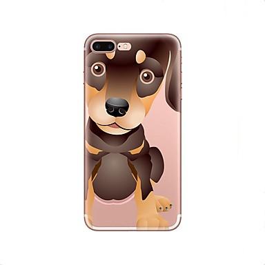 voordelige iPhone 5c hoesjes-hoesje Voor Apple iPhone X / iPhone 8 Plus / iPhone 8 Transparant / Patroon Achterkant Hond Zacht TPU