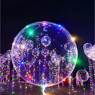 olcso Világító játékok-3M 18Inch LED világítás Léggömbök LED lufi Ünneő Romantika Születésnap Világítás Újratölthető termékek Foszforeszkáló Gyermek Felnőttek Fiú Lány Játékok Ajándék 1-15 pcs / Új design
