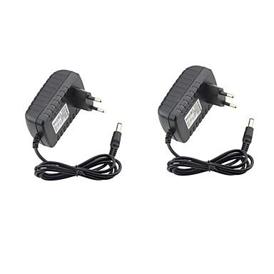 2pcs 12 V US / EU ABS + PC Adaptor putere pentru lumina LED Strip