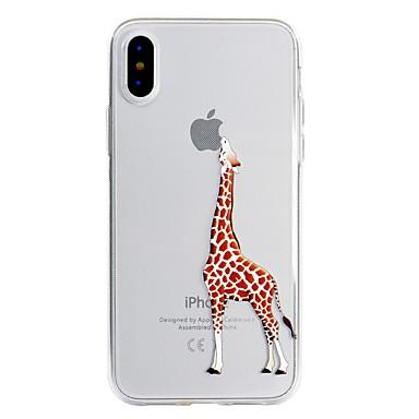 Недорогие Кейсы для iPhone 6 Plus-Кейс для Назначение Apple iPhone X / iPhone 8 Pluss / iPhone 8 С узором Кейс на заднюю панель Композиция с логотипом Apple / Мультипликация Мягкий ТПУ