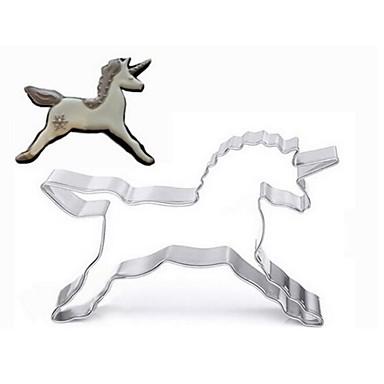 رخيصةأون أدوات الفرن-يونيكورن قالب الكعكة الفولاذ المقاوم للصدأ صانع البسكويت