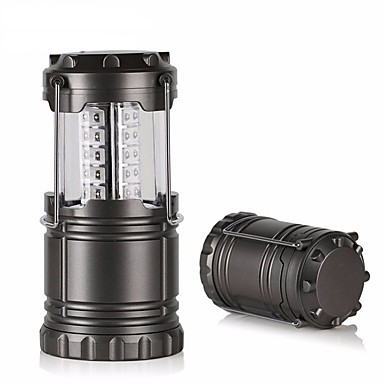 olcso Zseblámpák éslámpa túrázáshoz-LED Sugárzók 1 világítás mód Kempingezés / Túrázás / Barlangászat Mindennapokra Fekete Szürke