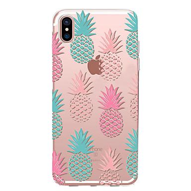voordelige iPhone X hoesjes-hoesje Voor Apple iPhone X / iPhone 8 Plus / iPhone 8 Transparant / Patroon Achterkant Voedsel / Fruit Zacht TPU