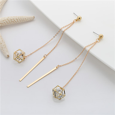 Women's Hot Fix Drop Earrings Long Ladies Sweet Elegant Earrings Jewelry Gold For Party Gift