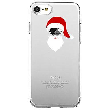 voordelige iPhone-hoesjes-hoesje Voor iPhone 7 / iPhone 7 Plus / iPhone 6s Plus iPhone 8 Plus / iPhone 8 / iPhone SE / 5s Patroon Achterkant Cartoon / Kerstmis Zacht TPU / iPhone X