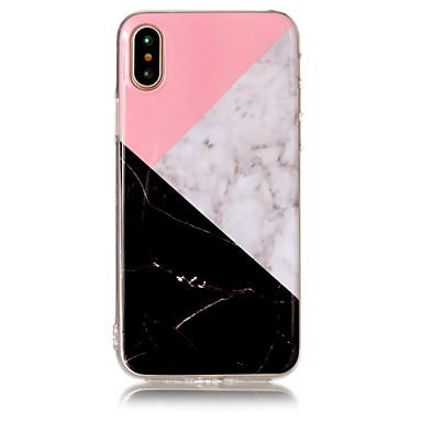 voordelige iPhone-hoesjes-hoesje Voor Apple iPhone X / iPhone 8 Plus / iPhone 8 IMD / Patroon Achterkant Marmer Zacht TPU