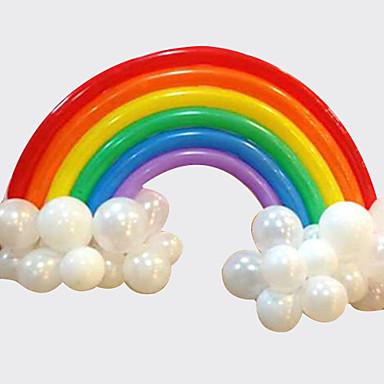 مجموعة قوس قزح بالون عيد ميلاد حفل زفاف ديكو (20 بالون طويل 16 جولة بالون)