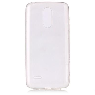 رخيصةأون LG أغطية / كفرات-غطاء من أجل LG LG K10 (2017) / LG K8 (2017) نحيف جداً / شفاف غطاء خلفي شفاف ناعم TPU