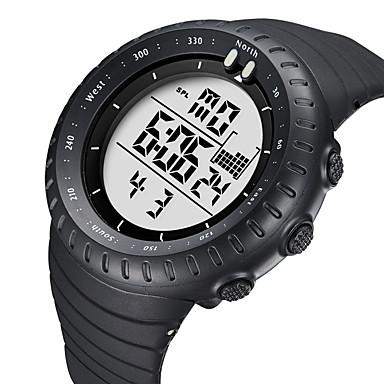 رخيصةأون ساعات النساء-BIDEN نسائي ساعة رياضية ساعة رقمية رقمي جلد أسود 50 m مقاوم للماء رزنامه قضية مماثل كاجوال موضة - أبيض أسود