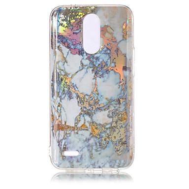 رخيصةأون LG أغطية / كفرات-غطاء من أجل LG LG K10 (2017) / LG K8 (2017) / LG G6 تصفيح / IMD غطاء خلفي حجر كريم ناعم TPU